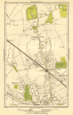 HARROW. Stanmore, Wealdstone, Greenhill, Weald, Headstone Lane 1923 old map